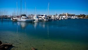 Sailing boats resting at Fremantle Sailing Club
