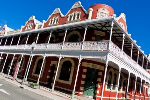 The P &O Hotel, High Street, Fremantle.  Completed in 1896 and currently owned by the Notre Dame University