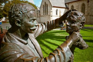 A life size bronze sculptor of well known Fremantle sculptor Pietro Porcelli