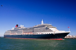 Queen Victoria entering Fremantle Port