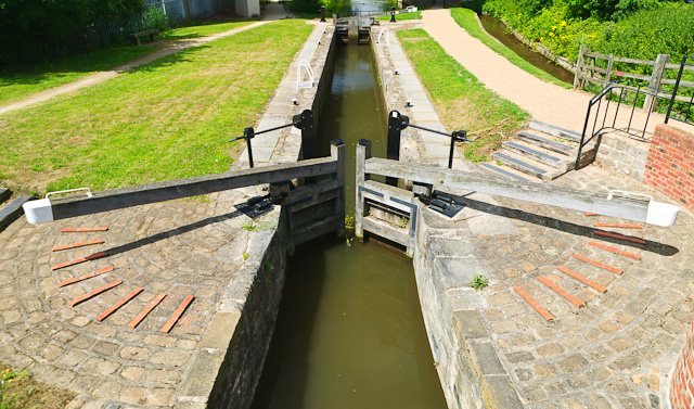 Lock gates on the canal at Worksop