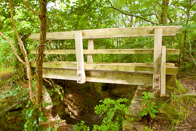 Bridge over river in the Moss Valley