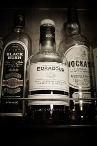 Edradour malt whiskey