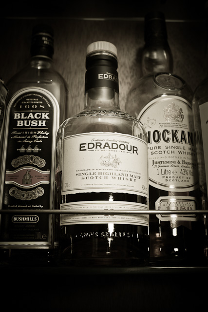 Edradour malt whiskey