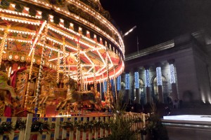 Carousel outside the City Hall, Sheffield